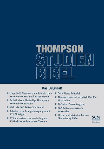 Thompson Studienbibel - ital. Kunstleder, blau, mit Reißverschluss: mit Wortkonkordanz (Cover Bild kann Abweichen)