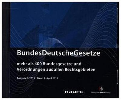 BundesDeutscheGesetze 2/2015, CD-ROM