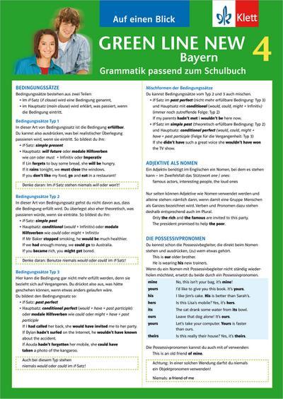 Green Line New 4. Auf einen Blick. Grammatik. Bayern