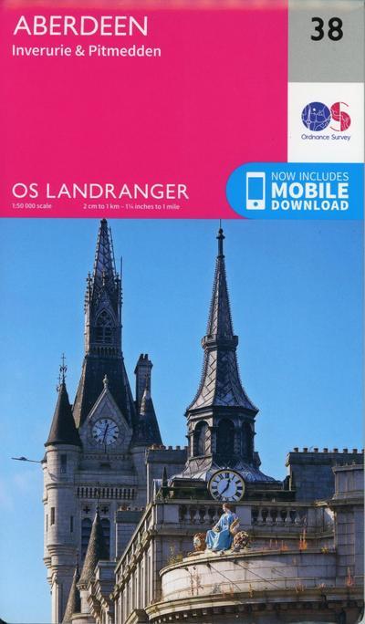 Aberdeen, Inverurie & Pitmedden 1 : 50 000 (OS Landranger Map)