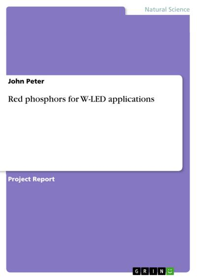 Red phosphors for W-LED applications