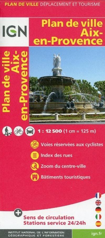 Aix-en-Provence Stadtplan 1 : 12 500