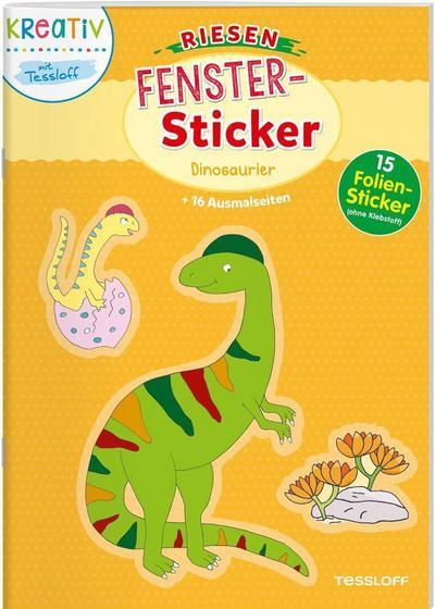 Riesen- Fenster-Sticker. Dinosaurier