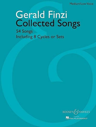 Collected Songsfor medium/low voice and piano
