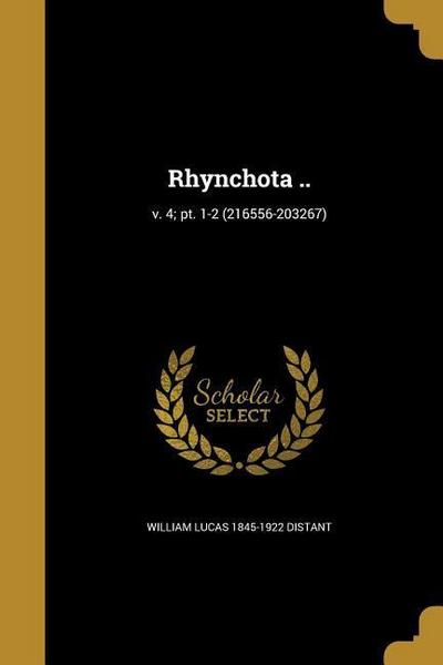 RHYNCHOTA V 4 PT 1-2 (216556-2