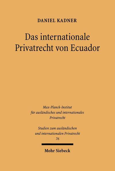 Das internationale Privatrecht von Ecuador