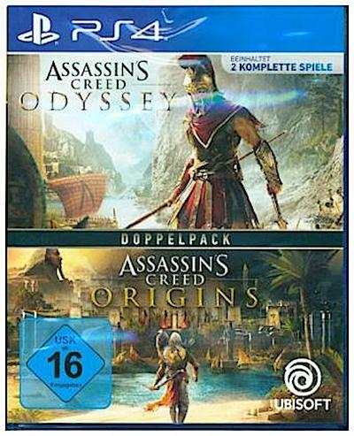 Assassin's Creed, Odyssey + Assassin's Creed,Origins, PS4-Blu-ray Disc