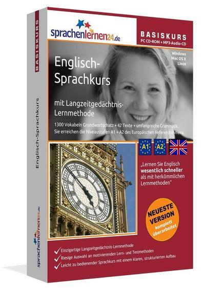 Sprachenlernen24.de Englisch-Basis-Sprachkurs. PC CD-ROM für Windows/Linux/Mac OS X + MP3-Audio-CD für Computer /MP3-Player /MP3-fähigen CD-Player