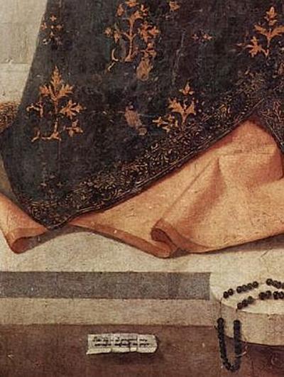 Antonello da Messina - Thronende Madonna, Signatur und Datierung des Künstlers - 200 Teile (Puzzle)