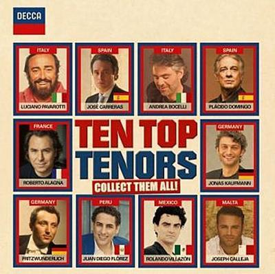 Ten Top Tenors, 2 Audio-CDs