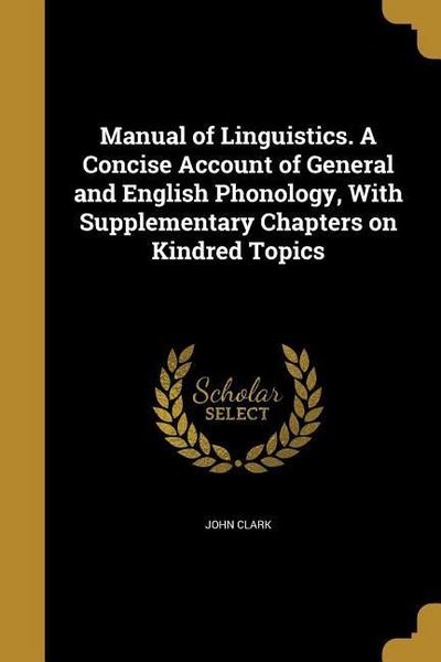 MANUAL OF LINGUISTICS A CONCIS