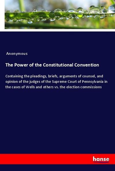 The Power of the Constitutional Convention