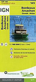 IGN 1 : 100 000 Bordeaux Arcachon. Gironde, M ...