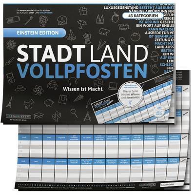 """STADT LAND VOLLPFOSTEN® - BLUE EDITION - """"Wissen ist Macht"""""""