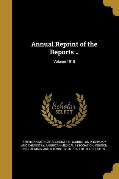ANNUAL R OF THE REPORTS VOLUME