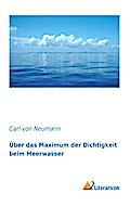 Über das Maximum der Dichtigkeit beim Meerwasser