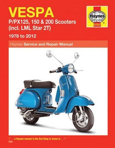 Vespa P/Px125, 150 & 200 Scooters (78 - 14)
