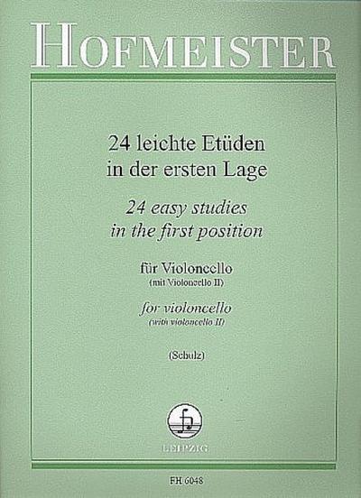 24 leichte Etüden in der ersten Lagefür Violoncello mit Begleitung eines zweiten Cellos