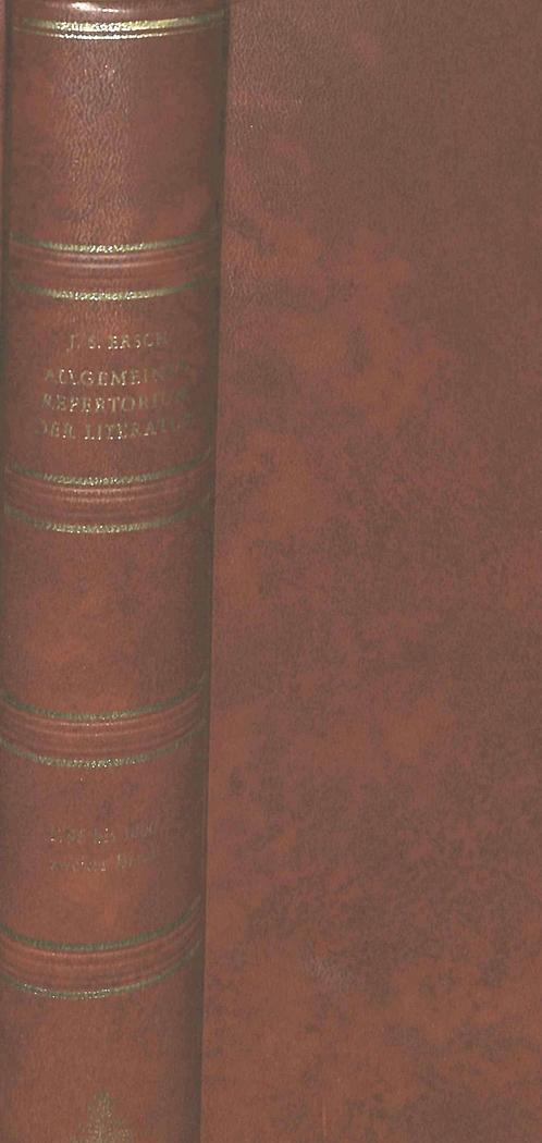 Allgemeines Repertorium der Literatur Johann Samuel Ersch