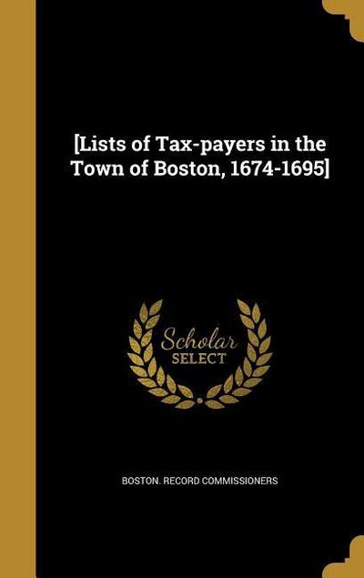 LISTS OF TAX-PAYERS IN THE TOW