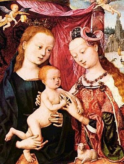 Meister des Bartholomäusaltars - Die Verlobung der Hl. Agnes - 200 Teile (Puzzle)