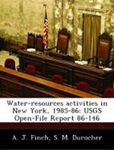 Finch, A: Water-resources activities in New York, 1985-86: U