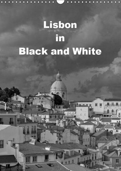 Lisbon in Black and White (Wall Calendar 2019 DIN A3 Portrait)