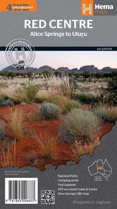 Red Centre Northern Territory 1 : 750 000