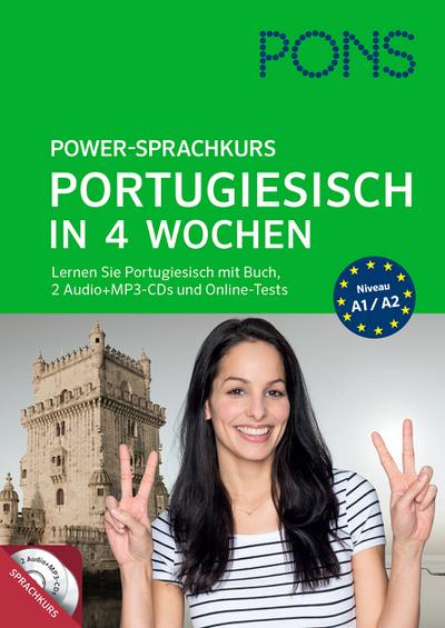 PONS Power-Sprachkurs Portugiesisch: Lernen Sie Portugiesisch mit Buch, 2 Audio+MP3-CD's und Online-Tests