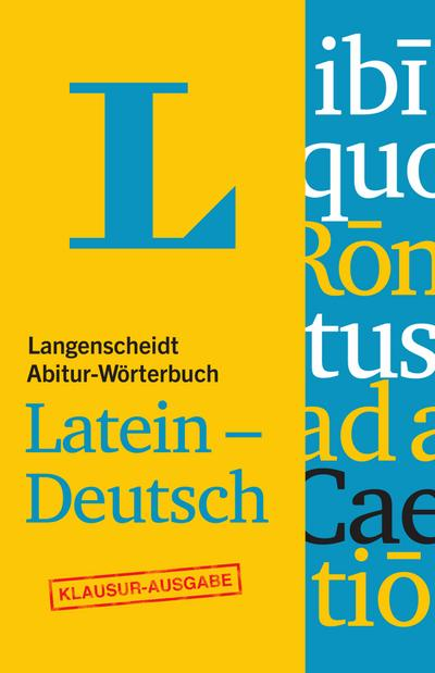 LG Abitur-Wörterbuch Latein-Deutsch