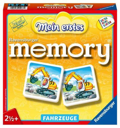 Ravensburger 21437 - Mein erstes memory® Fahrzeuge, der Spieleklassiker für die Kleinen, Kinderspiel für alle Fahrzeug-Fans ab 2 Jahren