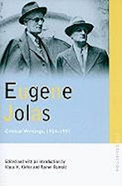 Eugene Jolas: Critical Writings, 1924-1951