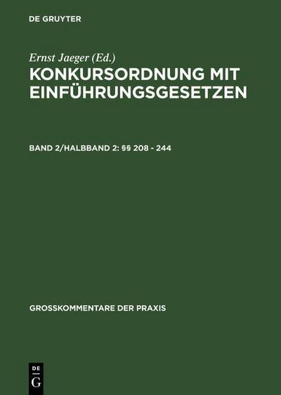§§ 208 - 244