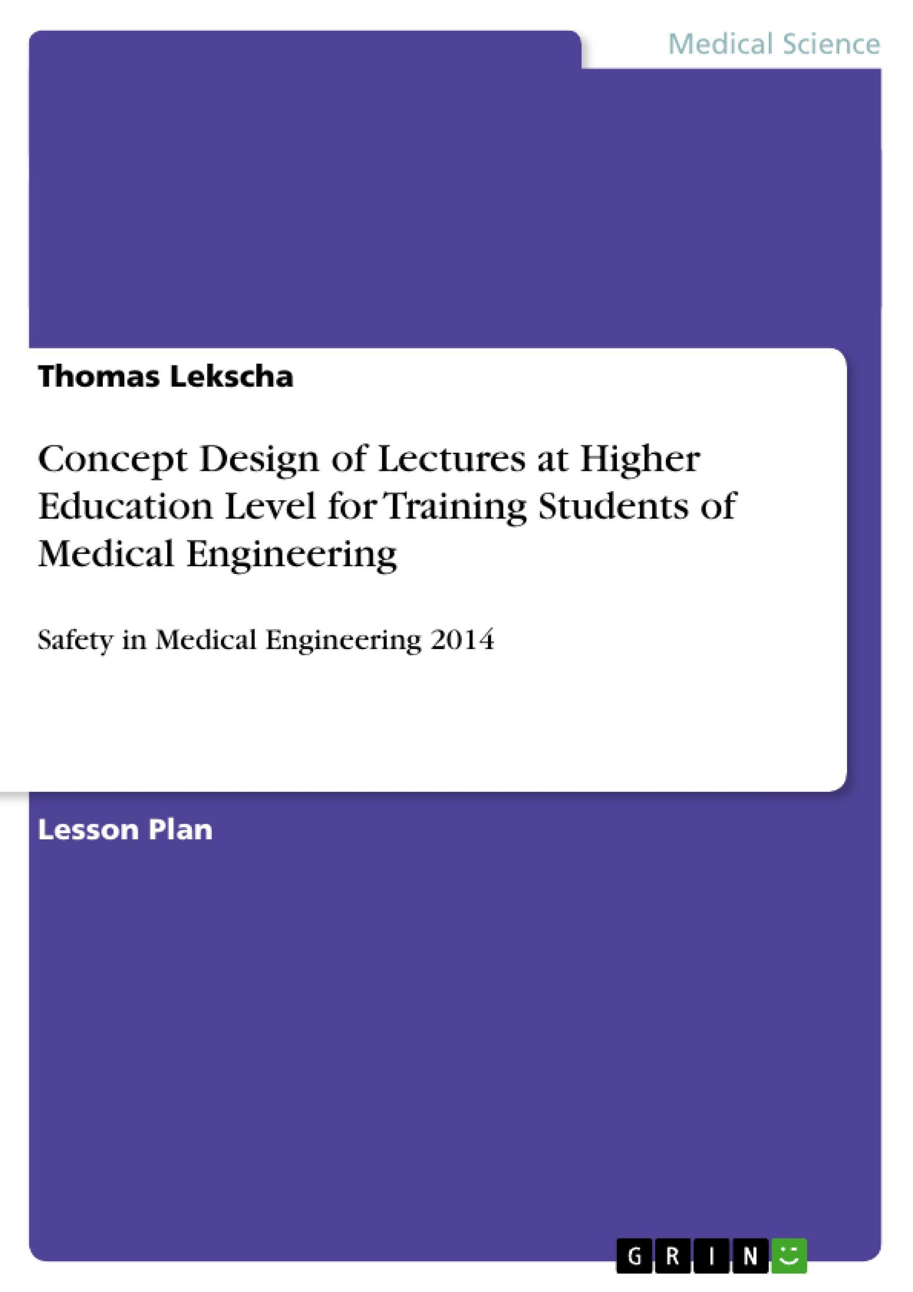 Concept Design of Lectures at Higher Education Level for Training Students  ...