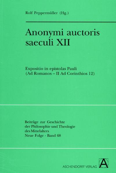 Anonymi auctoris saeculi XII