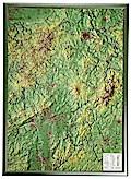 Hessen Gross 1:350.000 Reliefkarte mit Holzra ...