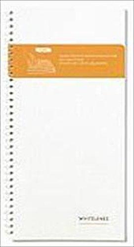 Notizheft Ringösenheft schmal Weiß liniert 9789186411886