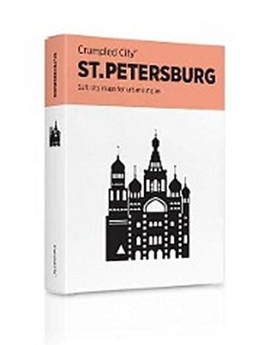 Crumpled City Map - St. Petersburg: Die cleveren Stadtpläne für Großstadtnomaden