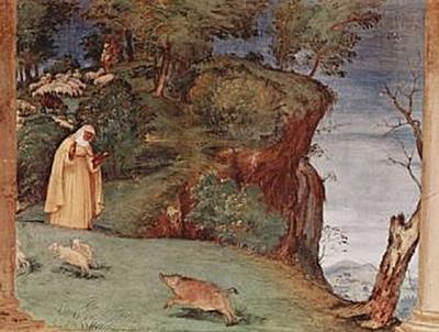 Lorenzo Lotto - Freskenzyklus im Oratori Suardi in Trescore, Szene: Segnung durch die Hl. Klara - 200 Teile (Puzzle)