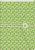Notizbuch mit Band und Wickelknopf (Grün)
