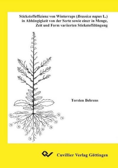 Stickstoffeffizienz von Winterraps (Brassica napus L.) in Abhängigkeit von der Sorte sowie einer in Menge, Zeit und Form variierten Stickstoffdüngung