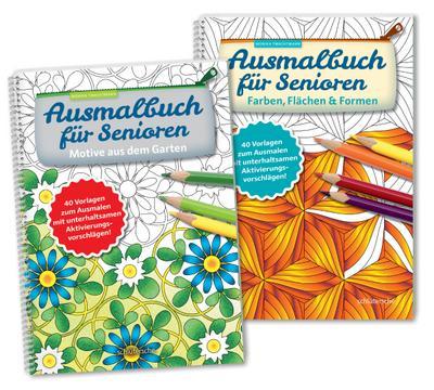 Ausmalbuch für Senioren Bd. 1 u. 2 im SET