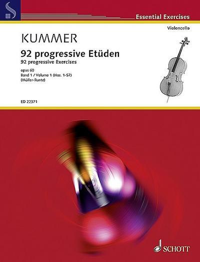 92 progressive Etüden op.60 Band 1 (Nr.1-57)für Violoncello