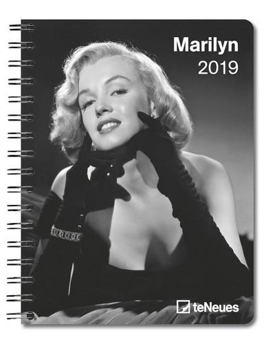 Marilyn 2019 - Buchkalender, Taschenkalender, Diary - 16,5 x 21,6 cm - Teneues Calendars & Stationery Gmbh & Co. KG Ein Unternehmen Der Dr. Neumann-Wolff AG - Kalender, Deutsch| Englisch| Italienisch| Spanisch| Niederländisch, Marilyn Monroe, Buchkalender, Buchkalender