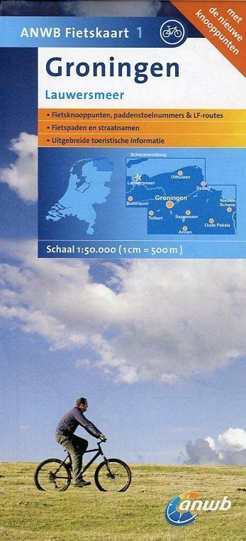 Fietskaart 01 Groningen 1 : 50 000