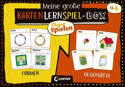 Clever spielen - Meine große KartenLernSpiel-Box - Formen/Gegensätze