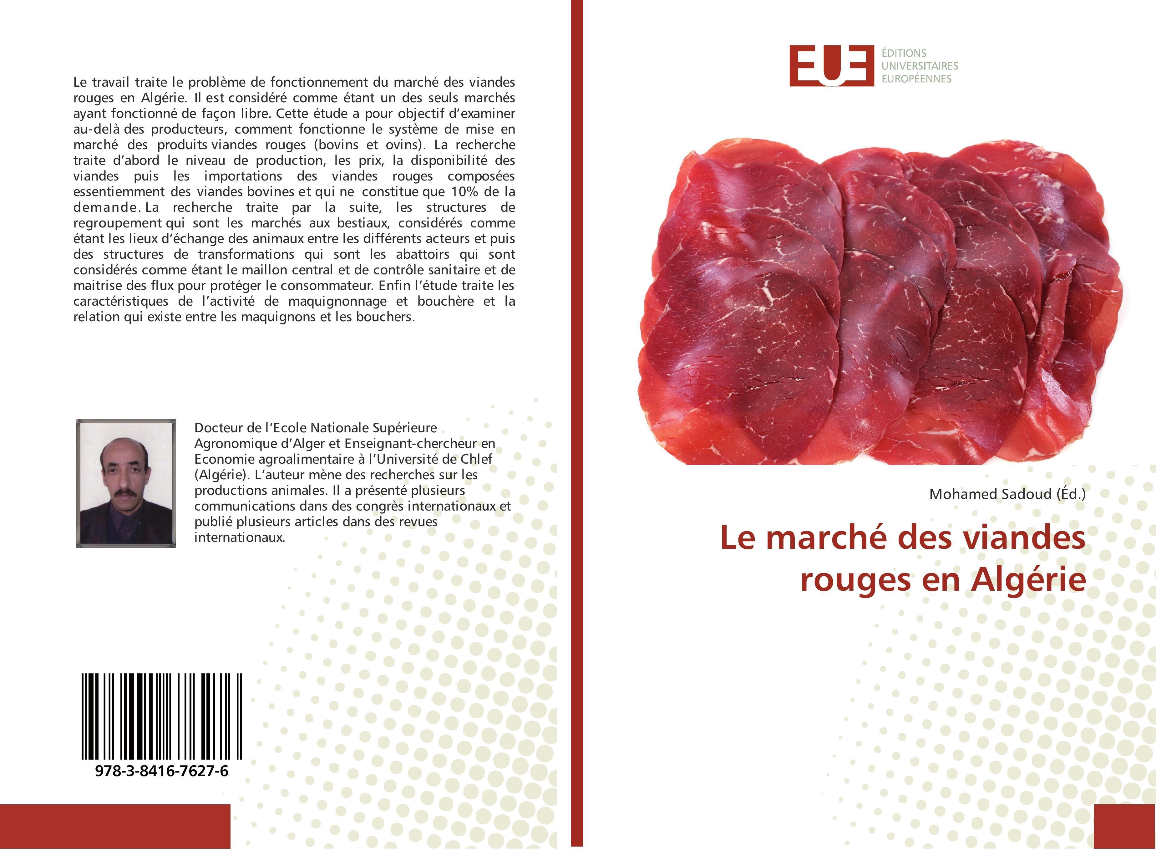 Le marché des viandes rouges en Algérie | Mohamed Sadoud |  9783841676276