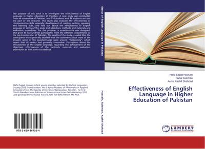 Effectiveness of English Language in Higher Education of Pakistan