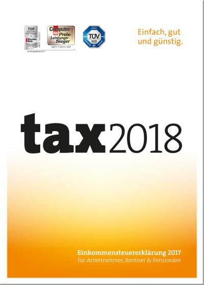 tax 2018 (für Steuerjahr 2017) - Buhl Data - CD-ROM, Deutsch, , Einkommensteuererklärung 2017 für Arbeitnehmer, Rentner und Pensionäre. Windows, Einkommensteuererklärung 2017 für Arbeitnehmer, Rentner und Pensionäre. Windows
