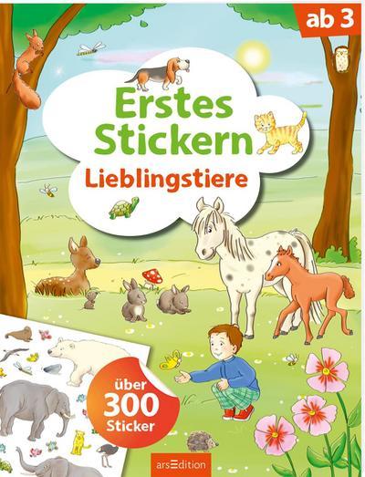 Erstes Stickern Lieblingstiere
